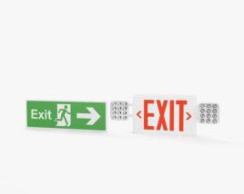 3D model of Exit Sign