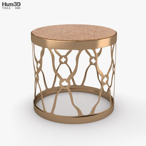 Round Side Table 3D model