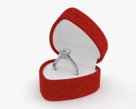 3D model of Diamond Ring in Box