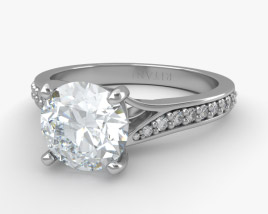 3D model of Engagement Diamond Ring