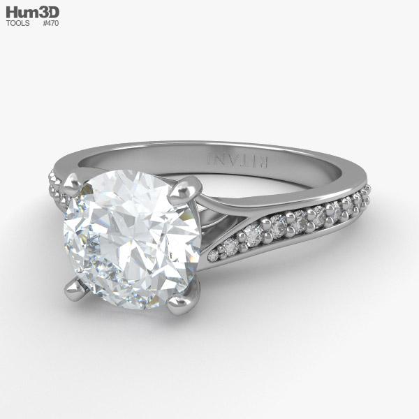Engagement Diamond Ring 3D model