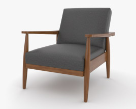 Better Homes and Gardens Flynn Mid-Century Chair Wood 3D model