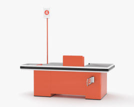 3D model of Check-out Counter