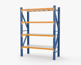 Warehouse Pallet Rack 3D model