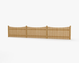 3D model of Wooden Fence