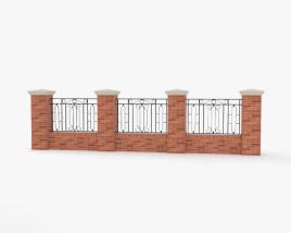 Brick Fence 3D model