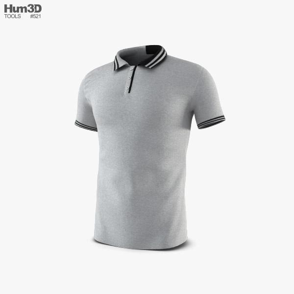 ポロシャツ 3Dモデル