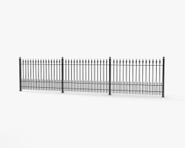 3D model of Wrought Iron Fence