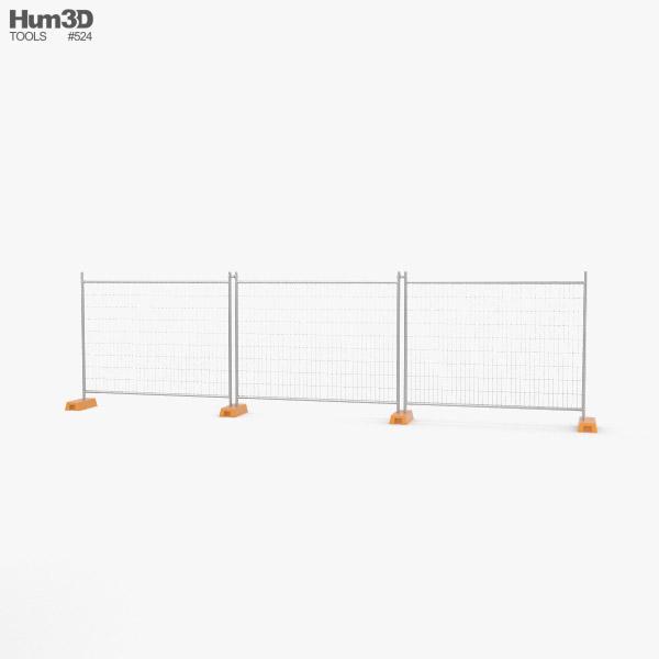 Construction Site Fence 3D model