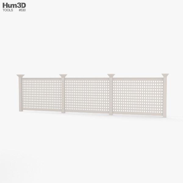 Vinyl Lattice Fence 3D model