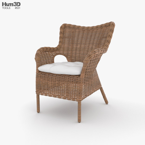 3D model of Rattan Chair