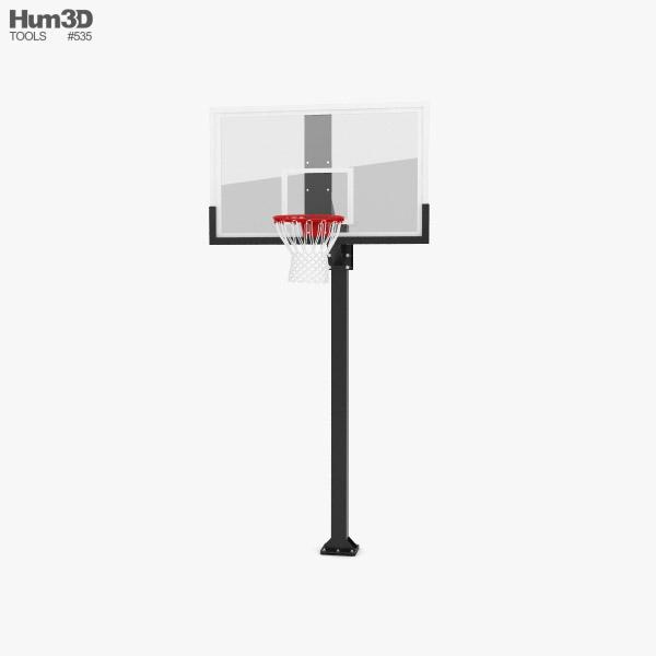 3D model of Hercules Fixed Basketball Hoop
