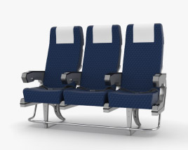 3D model of Airplane Seats