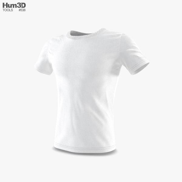 Tシャツ 3Dモデル