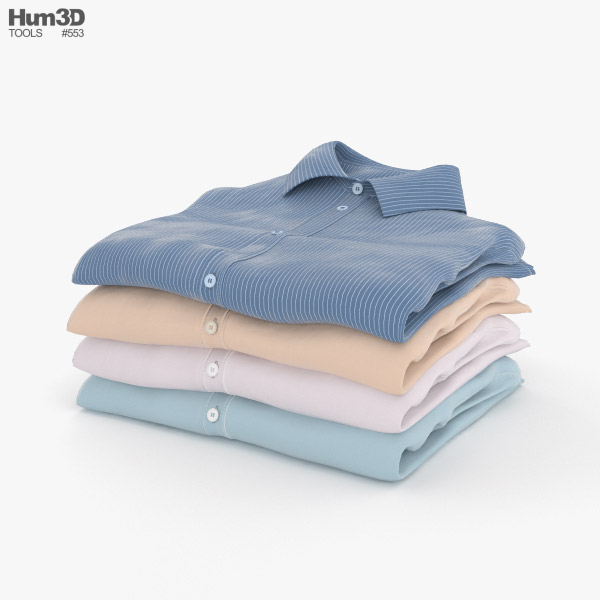 Folded Shirts 3D model