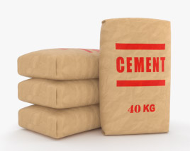 3D model of Cement Bag