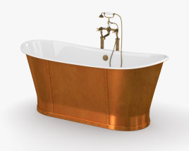 3D model of CP Hart Porcelanosa Greenwich Boat Bath