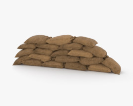 3D model of Sandbags Barricade