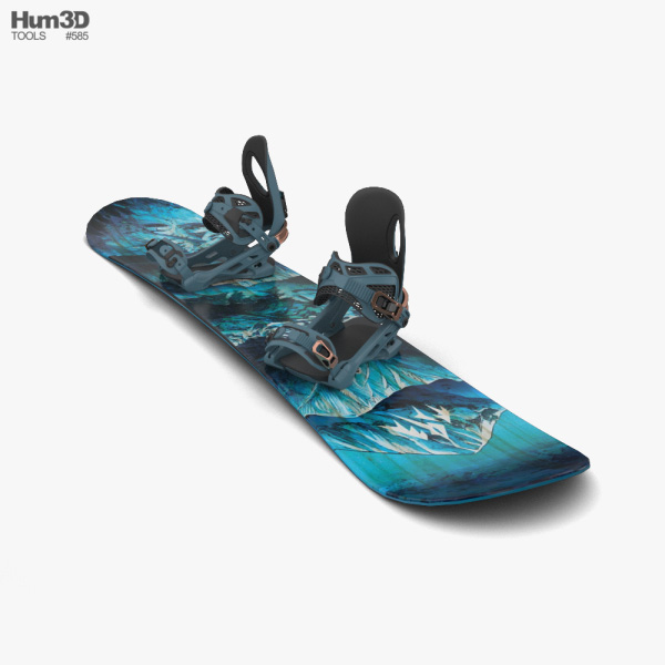 Snowboard 3D model