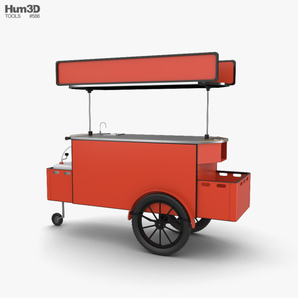 3D model of Food Cart