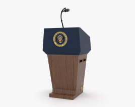 3D model of USA Presidential Podium
