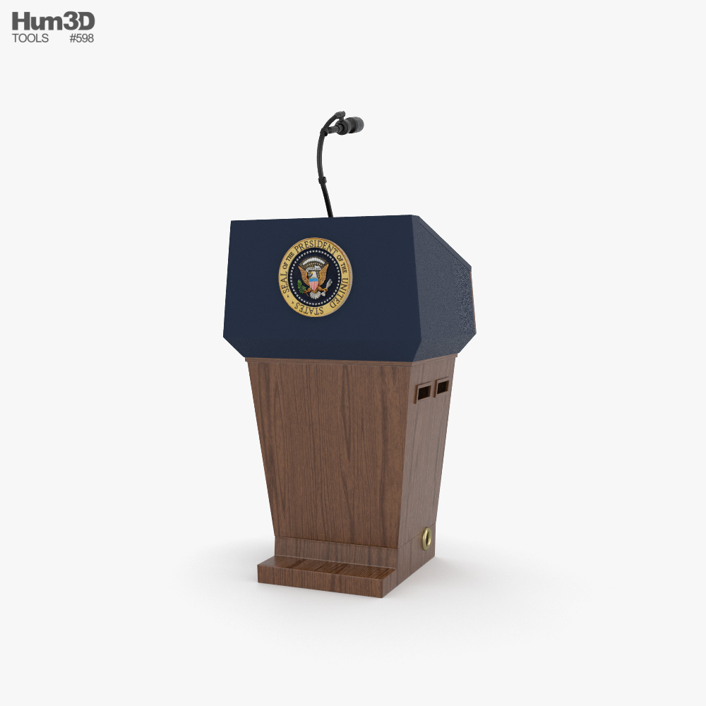 USA Presidential Podium 3D model