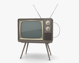 3D model of Retro TV