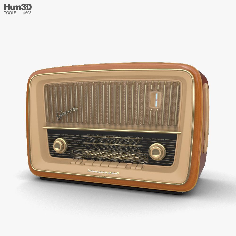 3D model of Retro Radio