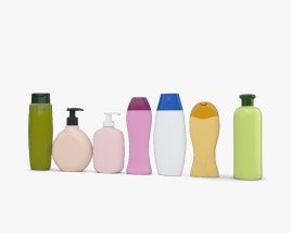 3D model of Shampoo Bottles