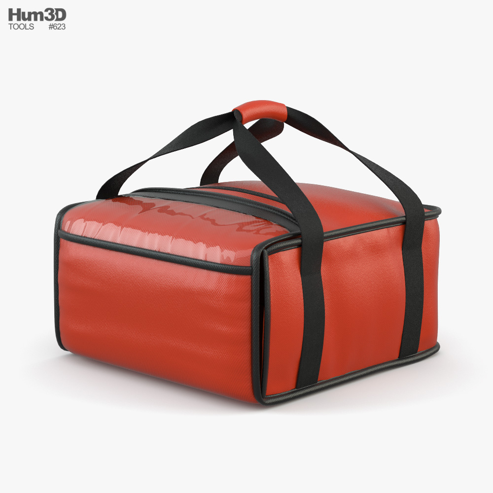Food Lunch Pizza Delivery Bag 3D model