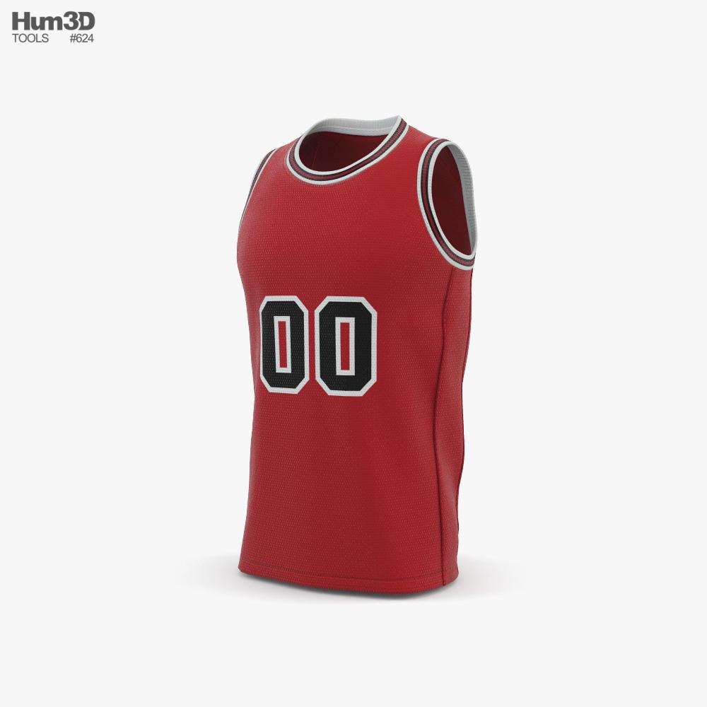 3D model of Basketball Jersey