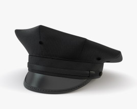3D model of Eight Point Police Cap