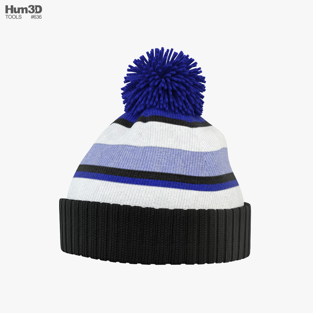 Winter Hat 02 3D model