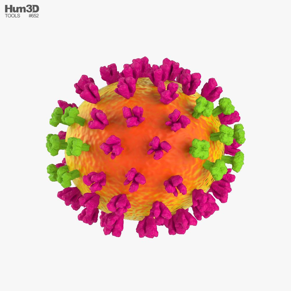 Flu (Influenza) Virus 3D model