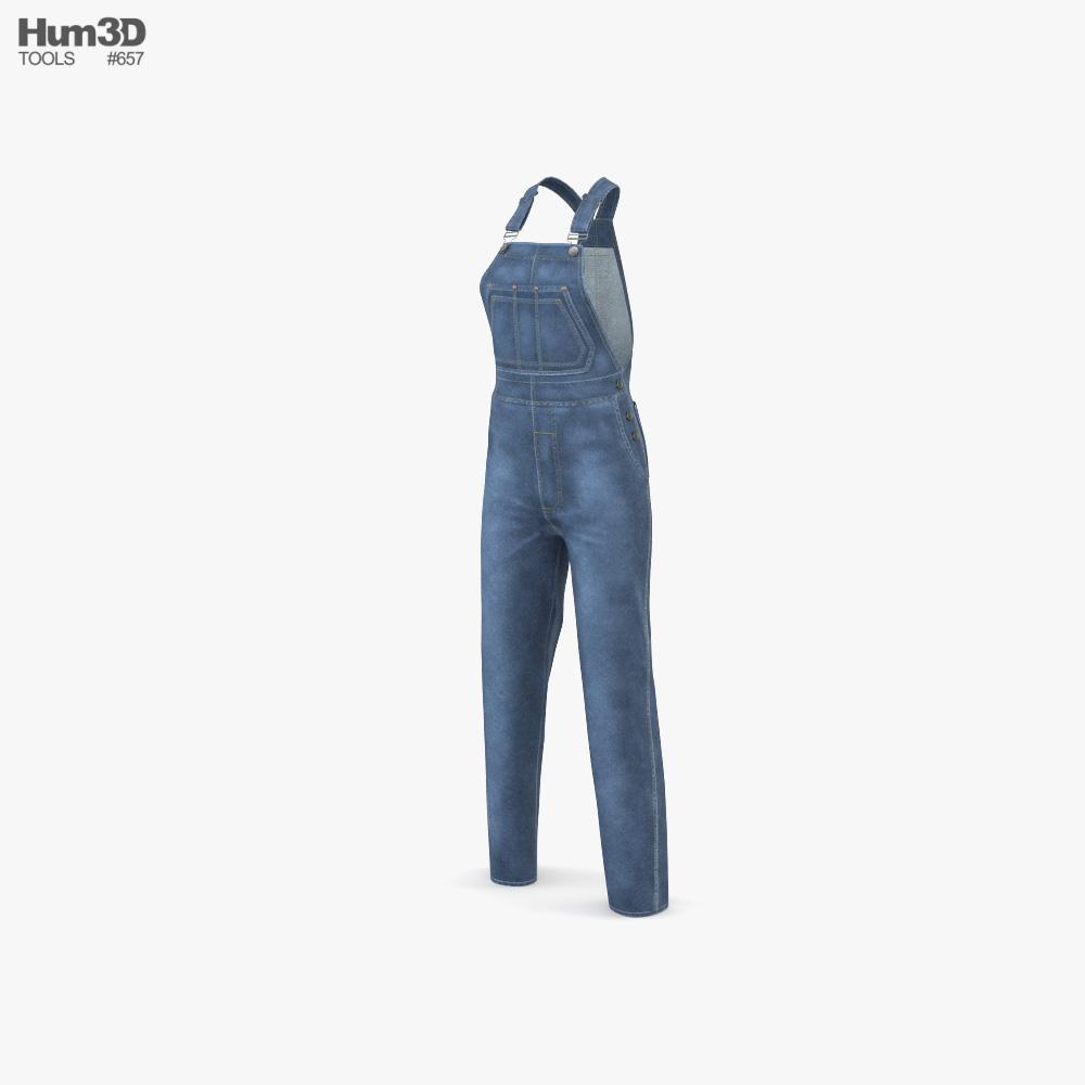 Women's Jeans Overall 3D model