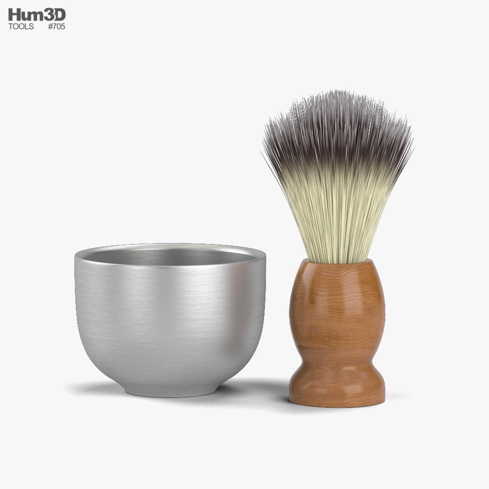 Shaving Brush 3D model