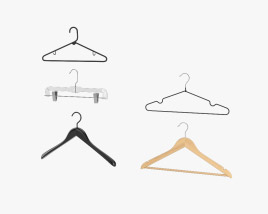 3D model of Clothes Hangers Set