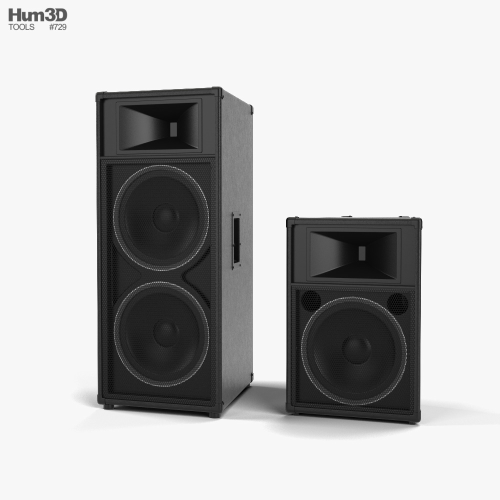Sound Reinforcement Loudspeaker 3D model