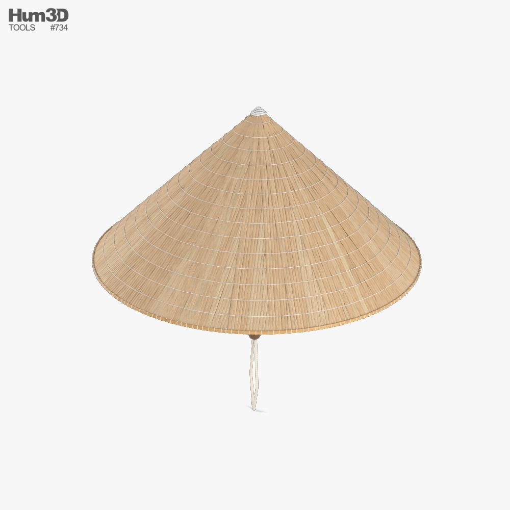 Vietnamese Rice Hat 3d model