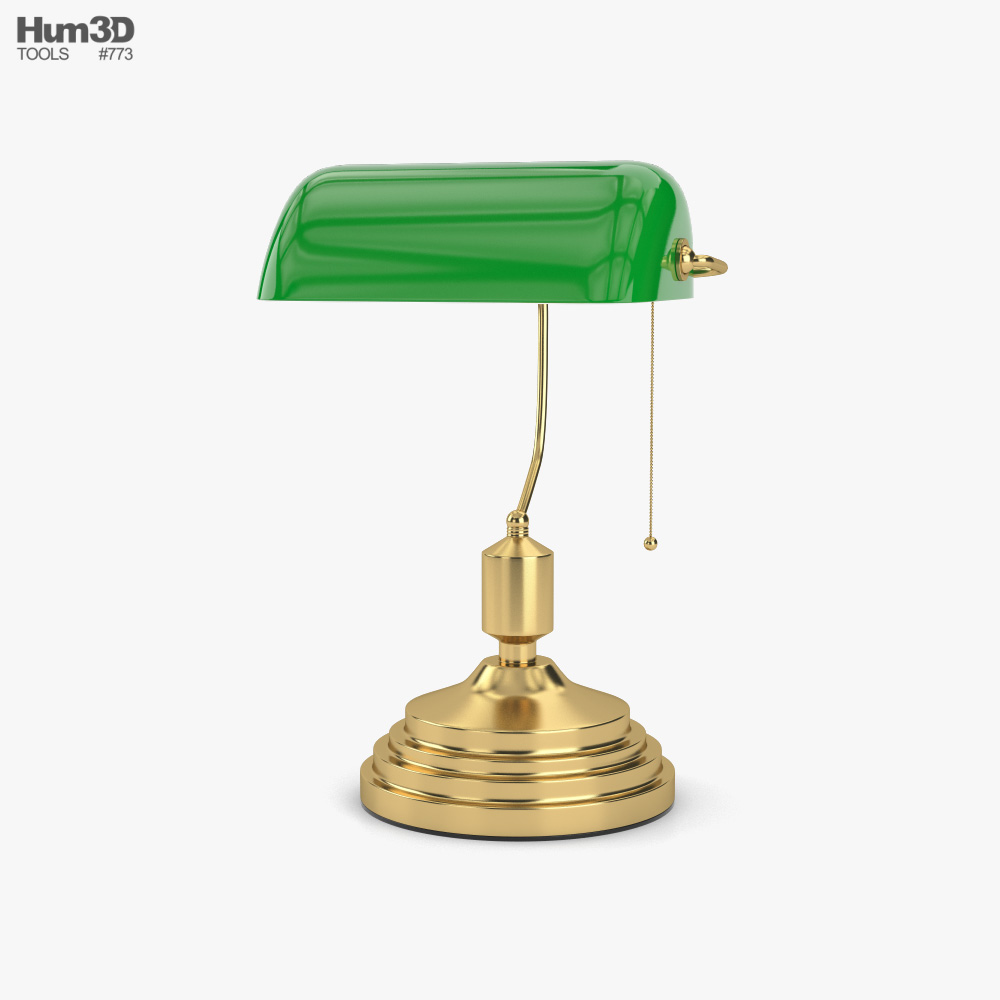 Banker Lamp 3D model