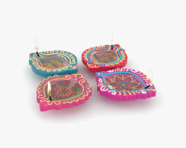 Diwali Diya Lamp 3D model