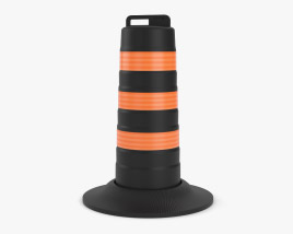 Traffic Road Barrel North American Style 3D-Modell