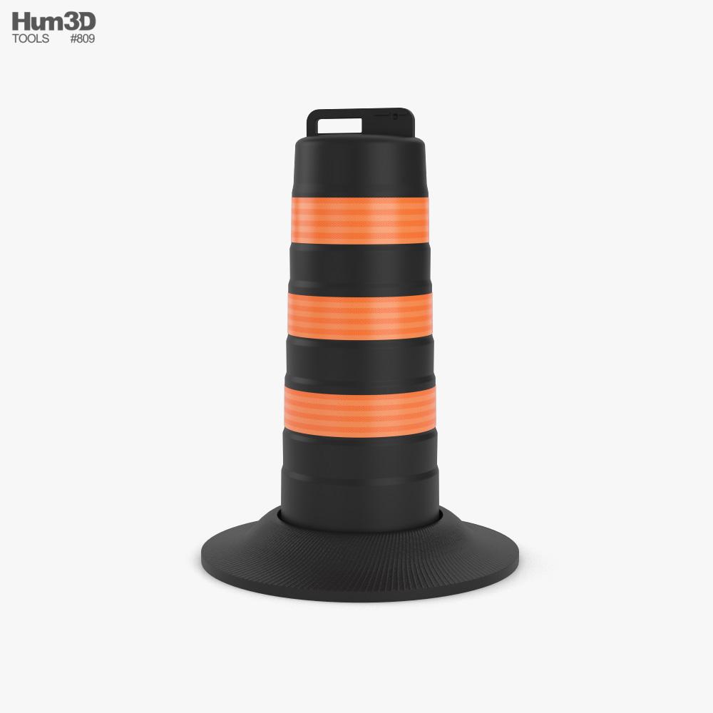 Traffic Road Barrel North American Style 3D model
