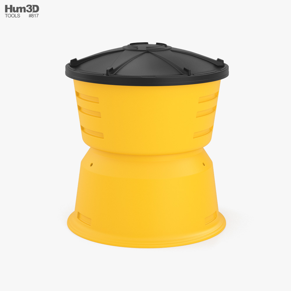 Sand Barrel type 3 3D model