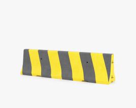 Concrete Barrier yellow-black 3D model