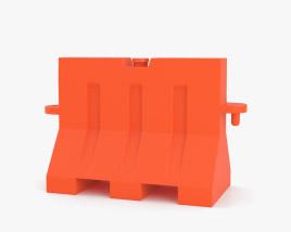 Portable Traffic Barrier 3D model