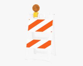 Roadworks Barricade Type 2 3D model