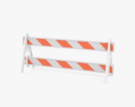 A-Frame Roadworks Barricade 3D model