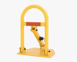 Lockable Folding Parking Barrier 3D model