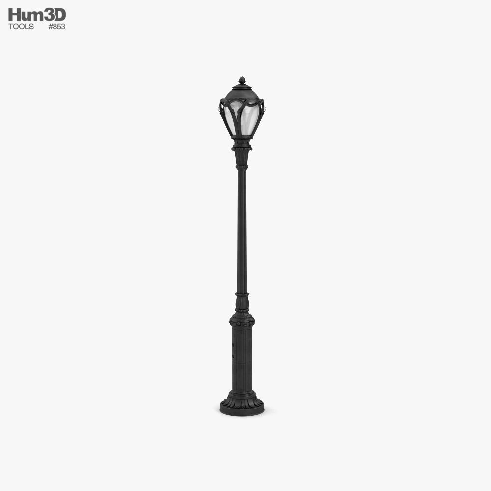 Central Park Lamp 3D model